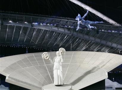 """图文:雅典奥运会开幕 古老的""""主持人"""""""