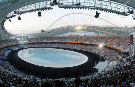 图文:奥运会开幕式即将开始