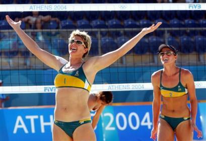 图文:澳大利亚队员在比赛中