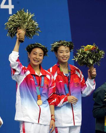 [奥运](2)跳水�D�D吴敏霞/郭晶晶获女子双人3米跳板