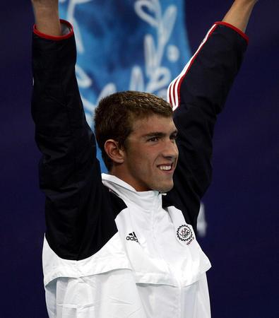 mj567红柳专区ps女犯-选手菲尔普斯(Michael Phelps)以4分08秒26获男子400米个人混图片
