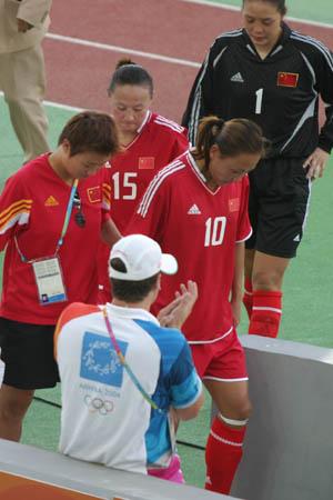 图文:中国女足黯然退场