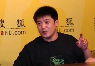 图文:演员孙涛做客搜狐 兴致勃勃谈奥运