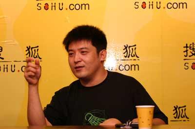 图文:演员孙涛做客搜狐 为奥运健儿喝彩