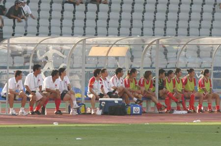 图文:中国女足对阵墨西哥