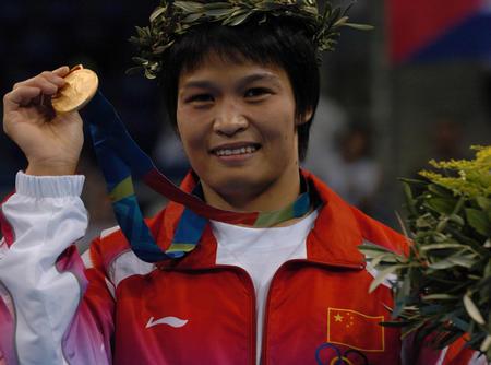 [奥运](6)柔道�D�D冼东妹女子52公斤级夺冠
