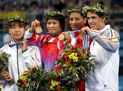 图文: 柔道女子52公斤级冼东妹夺金