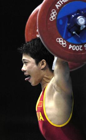 图文:男子举重56公斤级