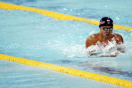 图文:男子100米蛙泳