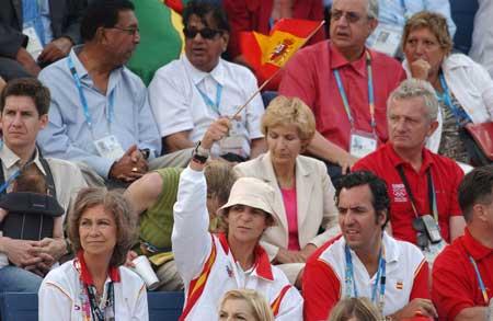 图文:西班牙王室观看奥运会