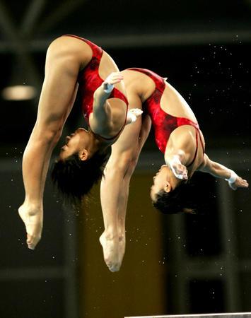 图文:女子双人10米跳台决赛