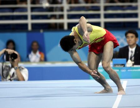 图文:男子团体体操决赛