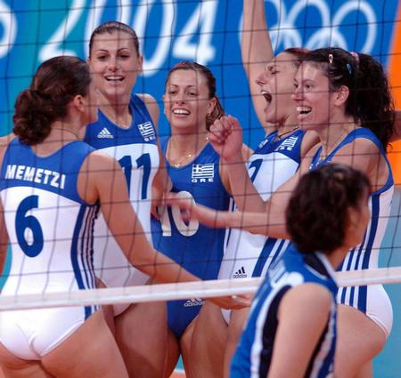 会女子排球比赛中 东道主希腊女排以1比3不敌韩国队