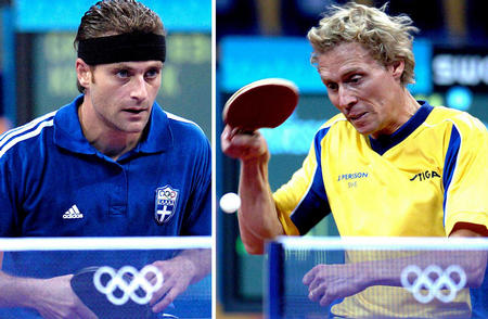 图文:乒乓球男单32强比赛