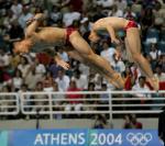 图文:跳水男双3米板 最后一跳