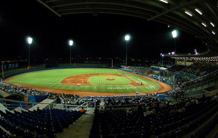 图文:棒球比赛 雅典棒球场全景