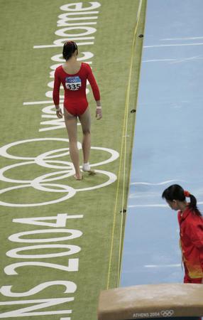 图文:体操中国队名列女团第七