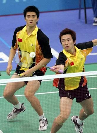 图文:羽毛球男双预赛 挑个小球-2004雅典奥运会-搜狐