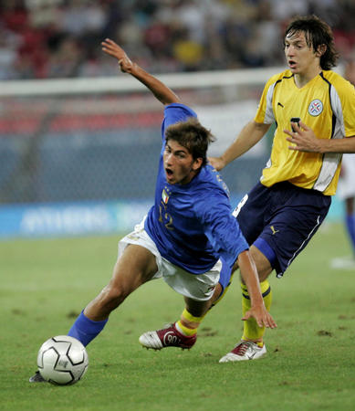 图文:巴拉圭击败意大利(1)