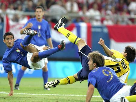 图文:奥运足球赛