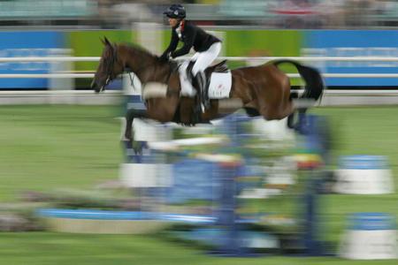 图文:奥运马术表演