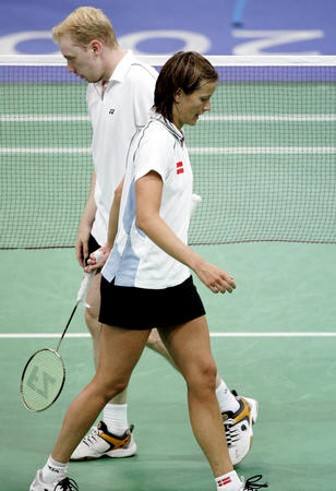 图文:羽毛球混双铜牌争夺战
