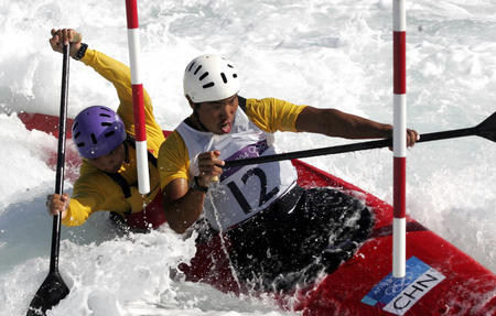 电话:皮划艇比赛陈富彬/田勤在比赛中-2004丹东图文雅典批发奥运毽球图片