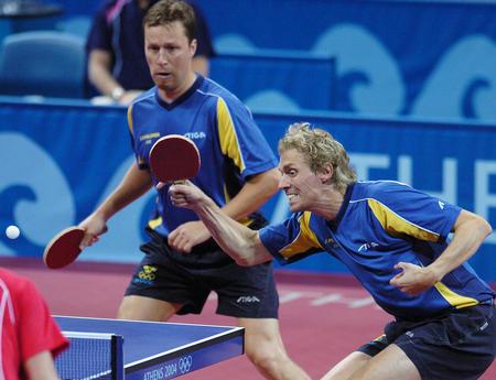 图文:乒乓球男双