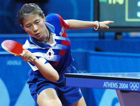 图文:乒乓球女单四分之一决赛
