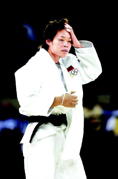 柔道比赛最后关头负于日本老将