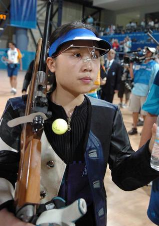 [奥运](5)射击�D�D王成意获女子50米步枪三姿铜牌