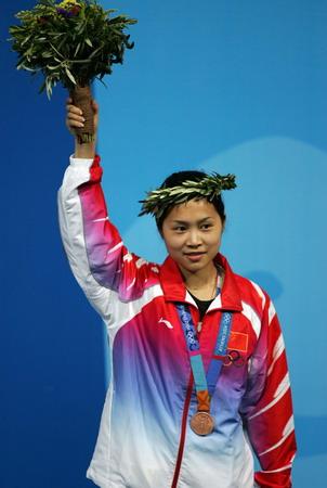 图文:女子50米步枪决赛 王成意获得铜牌
