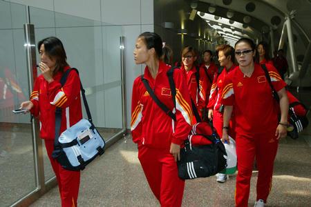 图文:女足回国