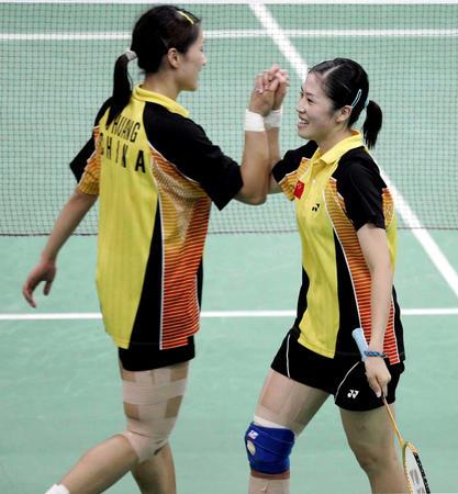 图文:羽球女双中国会师决赛