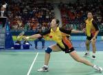 图文:羽毛球混双 张军/高��蝉联奥运冠军
