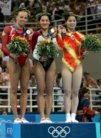 图文:蹦床女子个人赛 黄珊汕夺得铜牌