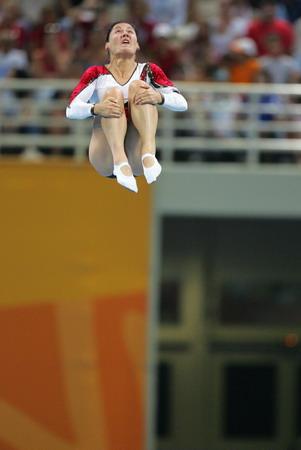 图文:女子蹦床比赛 德国选手多格纳泽获金牌