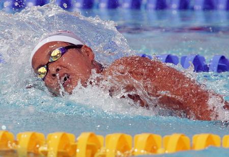 图文:女子800米自游泳 日本的柴田爱获得金牌
