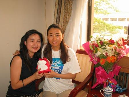 图文:搜狐专访中国射击队 两人有如亲姐妹