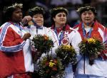 图文:柔道女子78公斤级 孙福明夺得铜牌(10)