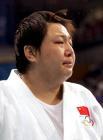 图文:女柔78公斤级 孙福明赛后流下遗憾的泪水