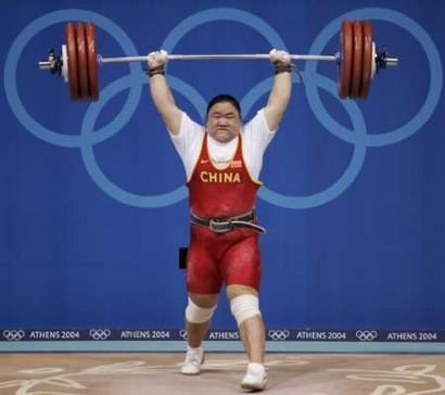 图文:女子75公斤举重 唐功红一举定乾坤