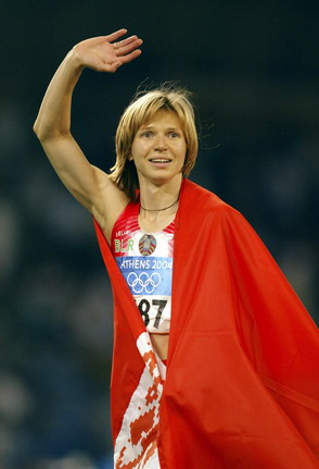 图文:女子百米决赛 内斯特伦科向观众致意