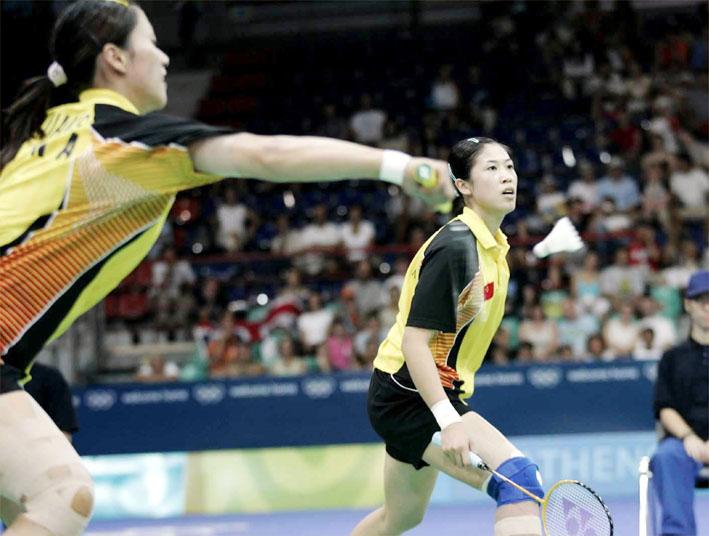 羽球女双决赛