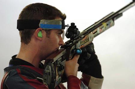 图文:男子50米步枪三姿赛况