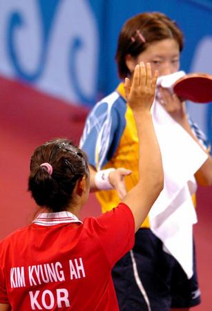 图文:乒乓球女子单打