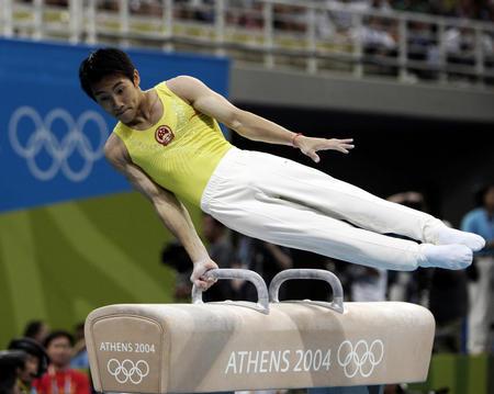 图文:体操鞍马