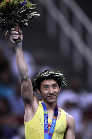 图文:体操鞍马比赛