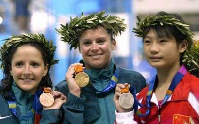 图文:女子10米跳台决赛 劳丽诗获银牌