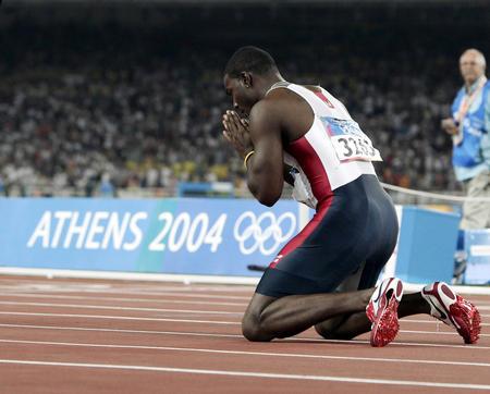 图文:田径男子100米